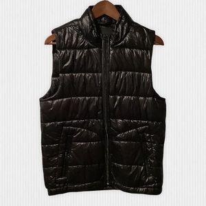Scotch & Soda Shiny Black Puffer Vest S